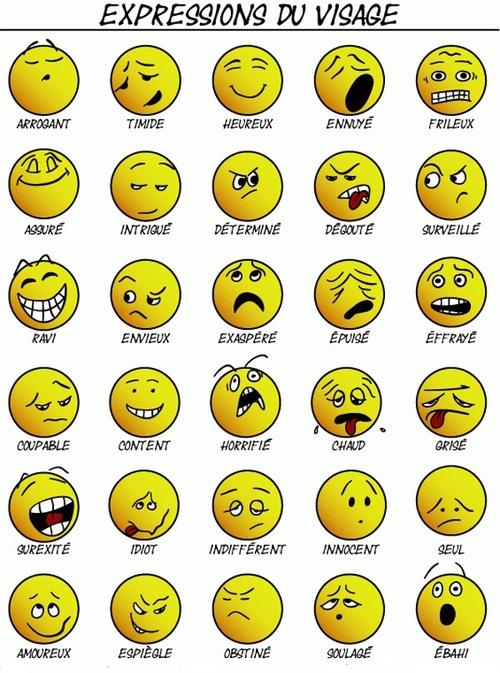 Vocabulaire : les sensations et les émotions