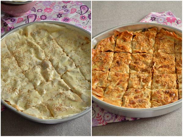 Tepsi Böregi {Bourek Turc Yukfa à la viande hachée cuite au four}