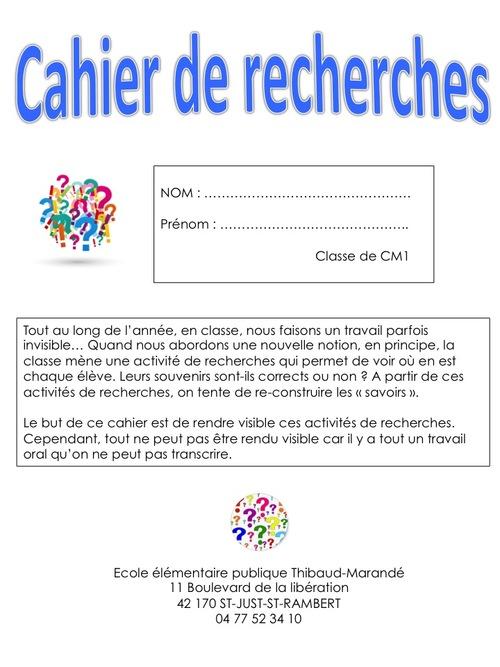 Cahiers de Recherches
