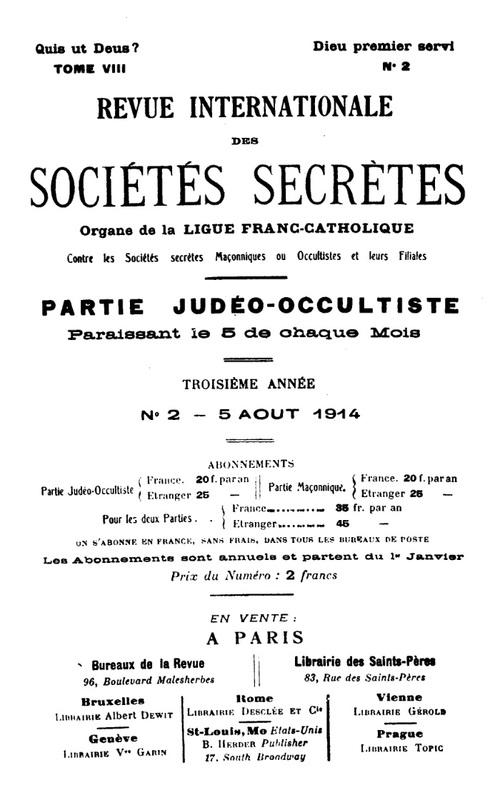 Antoinisme (La Gazette de Liège, 28 juin 1914)-couv