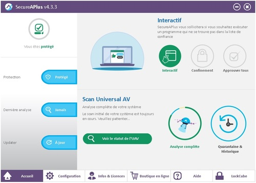 SecureAPlus Preemium Security 4.3.3 - Licence 24 mois gratuits