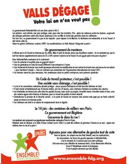 Valls dégage ! Votre loi on n'en veut pas !