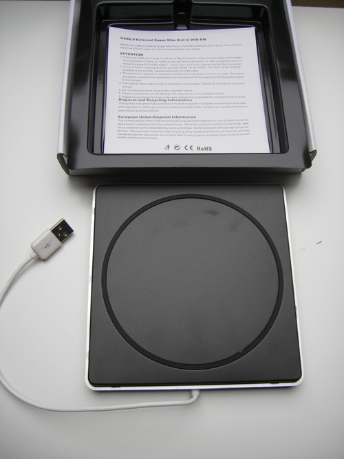 BESTRUNNER lecteur/graveur externe CD/DVD
