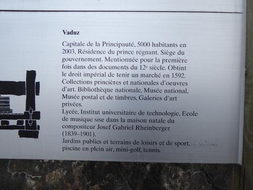 Vaduz (4) château, suite des explications, Liechtenstein, fév 2017
