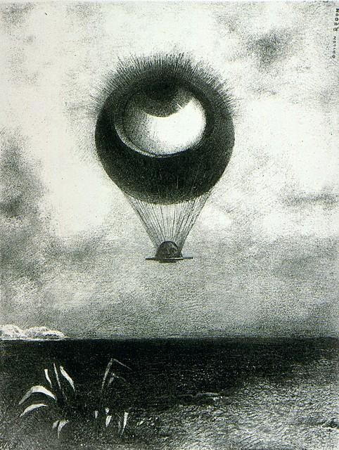Odilon Redon:  l'oeil montgolfière
