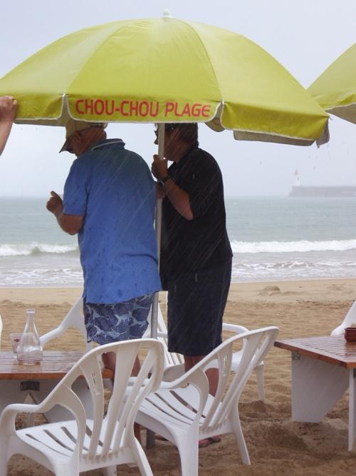 la pluie du mois de juillet au bord de mer