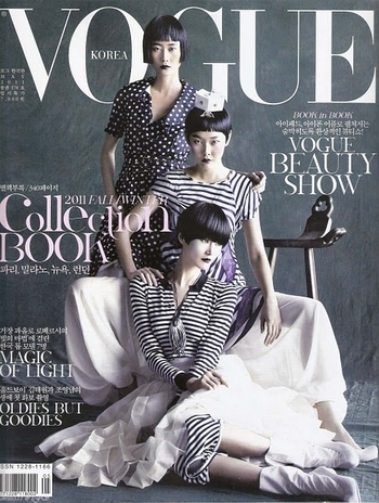 vogue korea (hyun yi lee, han hye jin and hye jung lee)
