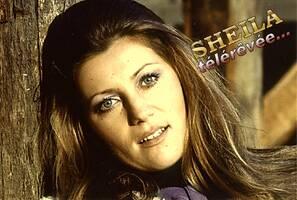 1973 / Sheila dans le soleil couchant, Feucherolles.