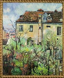 valadon bdok-Jardin de la rue Cortot 1928 huile sur toile 7