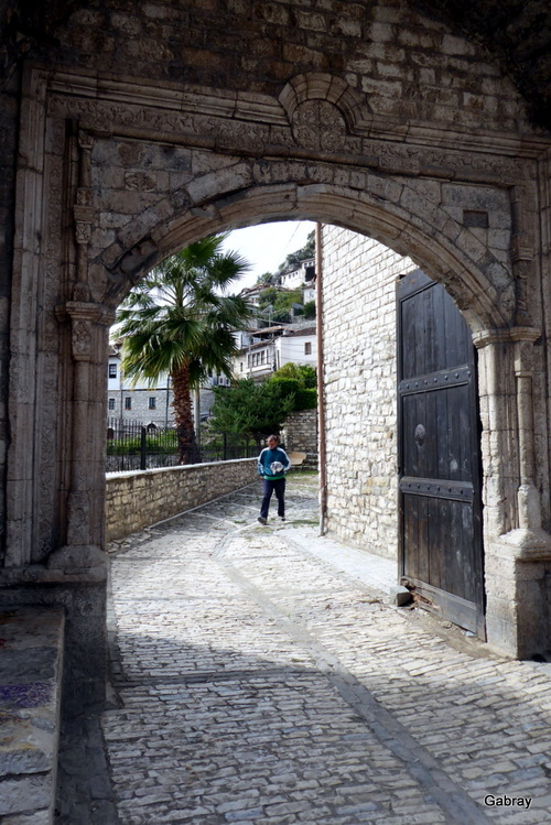 Berat: vues du pont (Albanie)