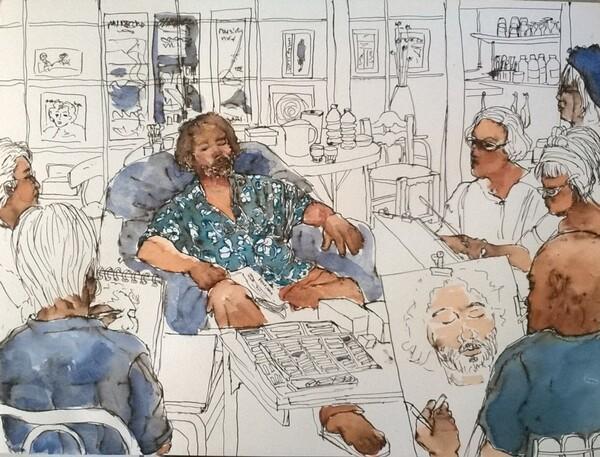 Jeudi - Scène d'atelier (65) : L'endormi