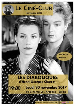 """30 novembre 2017, """"Les Diaboliques"""", attention Chef d'Oeuvre  !!!"""