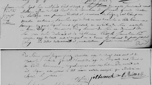 Acte de naissance de Pierre Joseph Eloy Antoine le 7 juin 1830