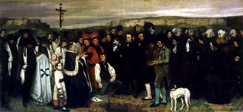 Un enterrement à Ornans- Courbet-1849-1850