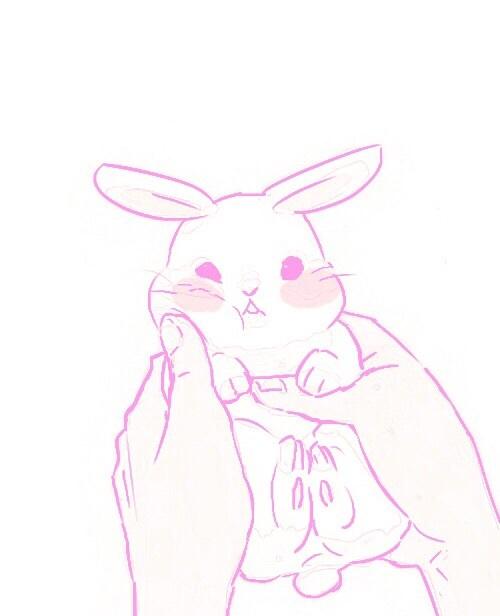 Image de cute, bunny, and kawaii