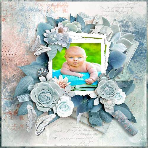 Out Of The Blue by dentelle scrap