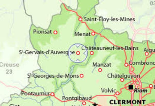 SAINT GERVAIS D'AUVERGNE et la Montgolfière