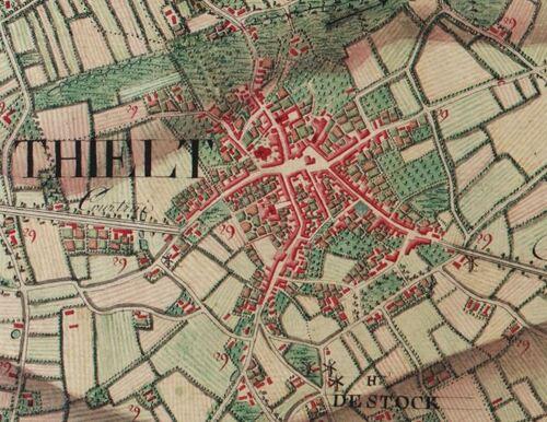 Tielt (Carte Ferraris, 1777)(kbr.be)