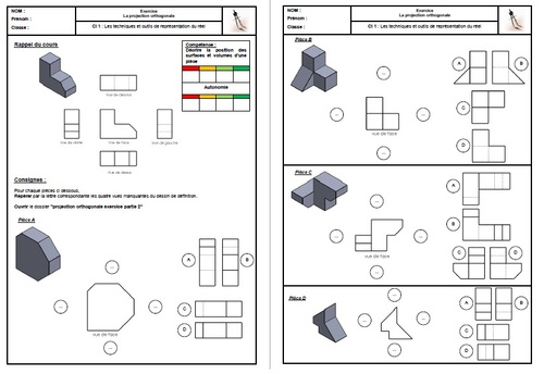 Exercice projection orthogonale Partie 2