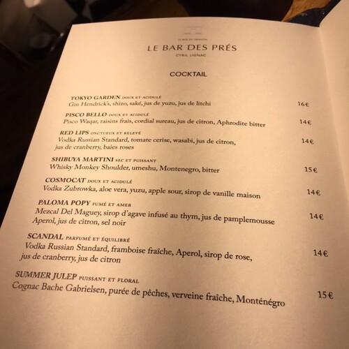 Le Bar des Près - Cyril Lignac
