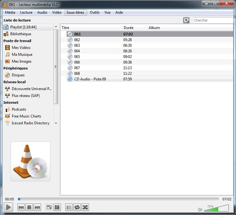 cd audio 3b vlc