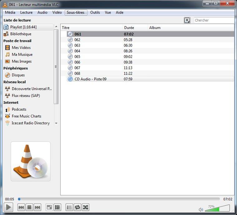 cd audio 3b vlc