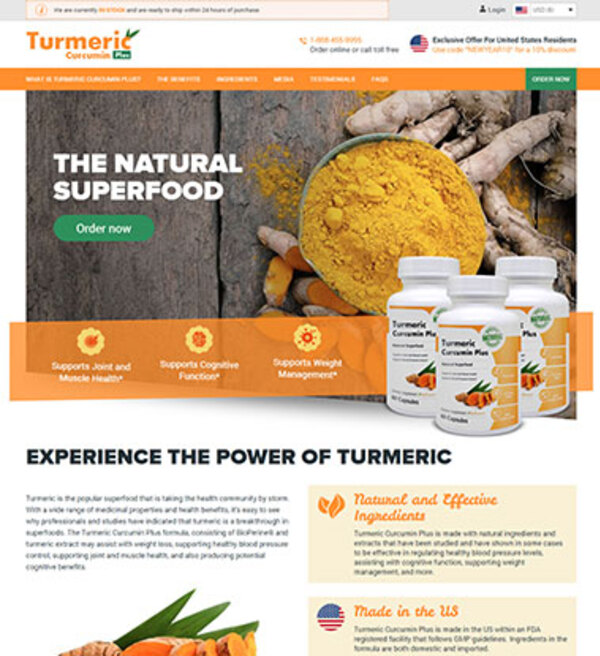 Turmeric Curcumin Plus Official Store The Natural Superfood
