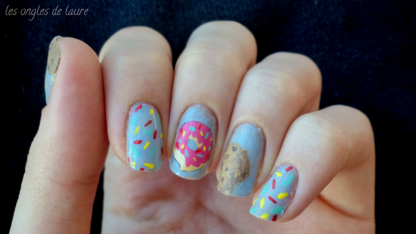 Nail Art gourmand : dont et cookie