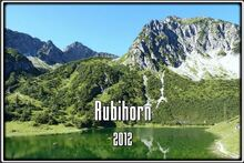 Au Rubihorn dans l'Allgäuer Alpen en Bavière