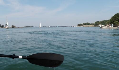 Boëd & Boëdic en kayak
