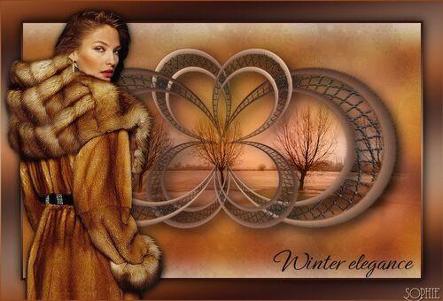 Tutoriel Winter elegance