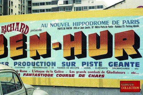 affichage de Ben Hur à l'Hippodrome Jean Richard de Paris