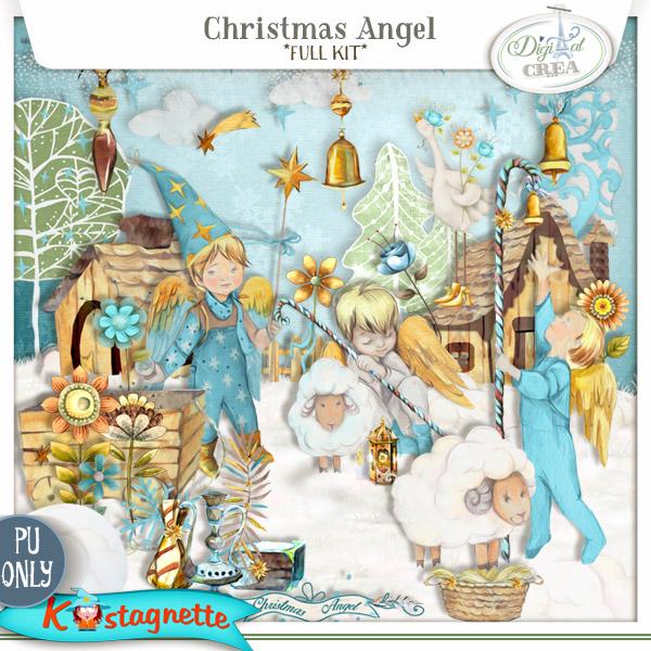 Christmas Angel by Kastagnette