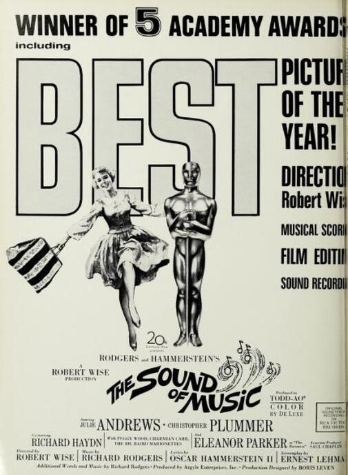 THE SOUND OF MUSIC OSCAR 1966
