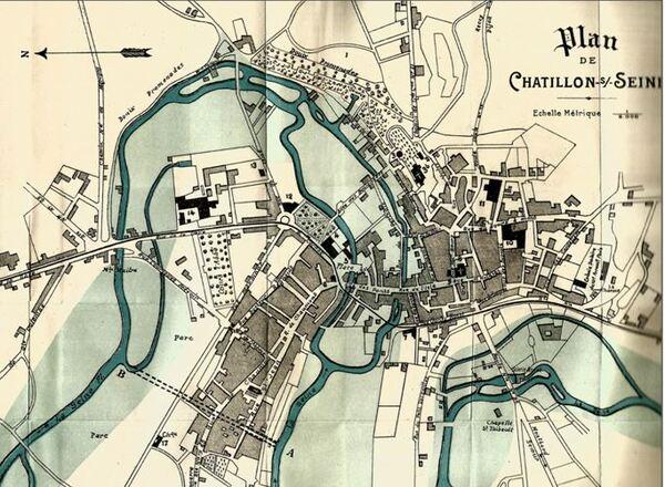 Les inondations de janvier 2018 à Châtillon sur Seine, comparées avec celles  de 1910, une belle étude  par Dominique Masson