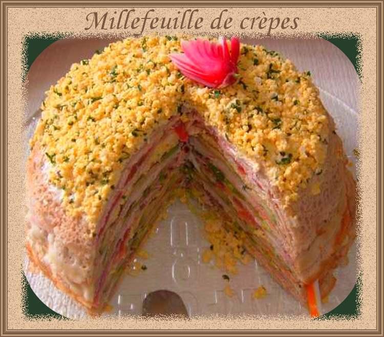 Recette de cuisine : Millefeuille de crèpes
