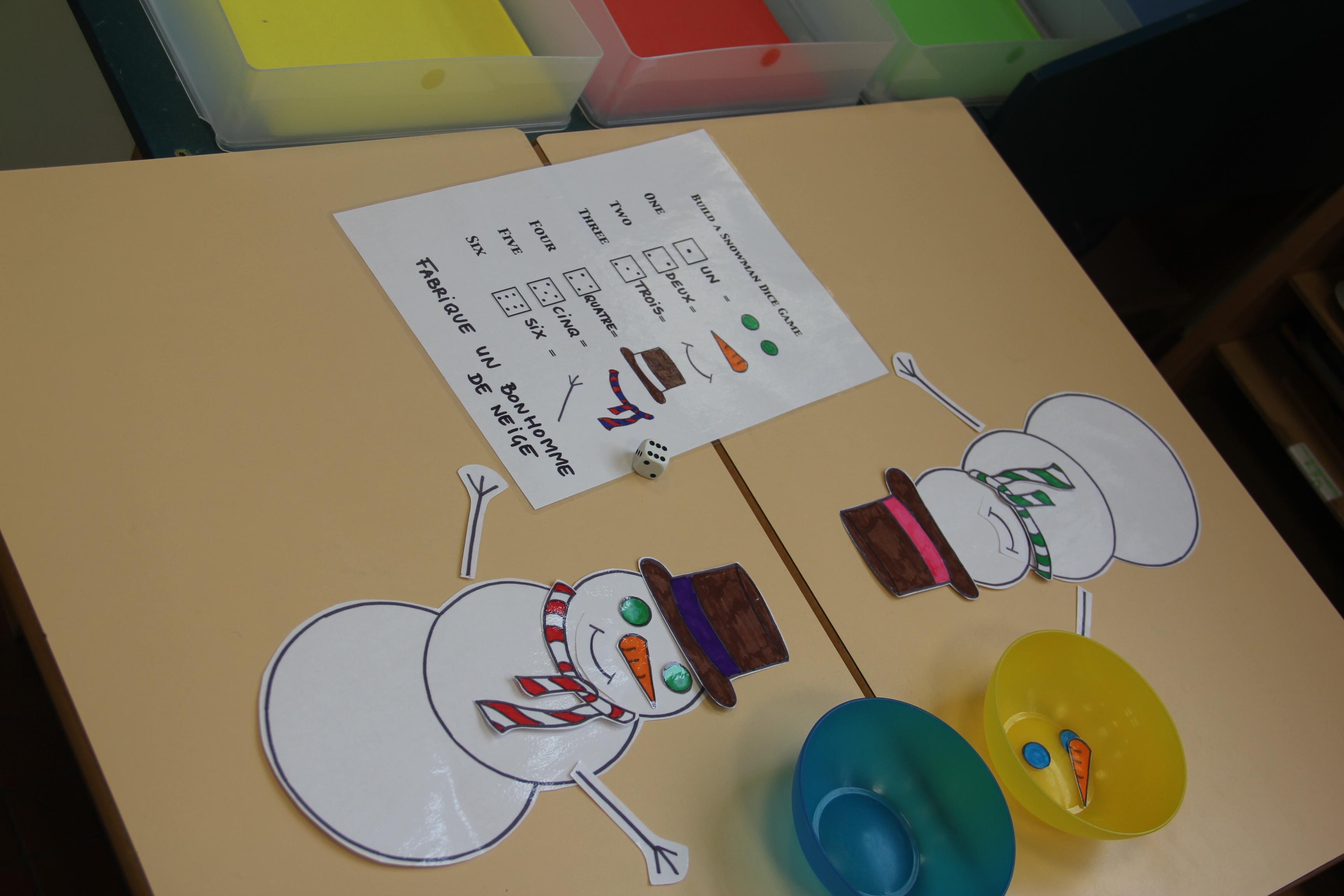 Jeu de d fabriquer un bonhomme de neige in my classroom - Fabriquer un bonhomme de neige ...