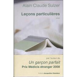 leçons particulières, d'Alain Claude Sulzer