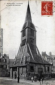 cartes-postales-photos-Le-Clocher-de-l-eglise-Ste-Catherine