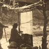 Navajo weaver. Canyon de Chelly, Arizona. Early 1900s. Photo by Carl Moon. Source - Huntington Digit