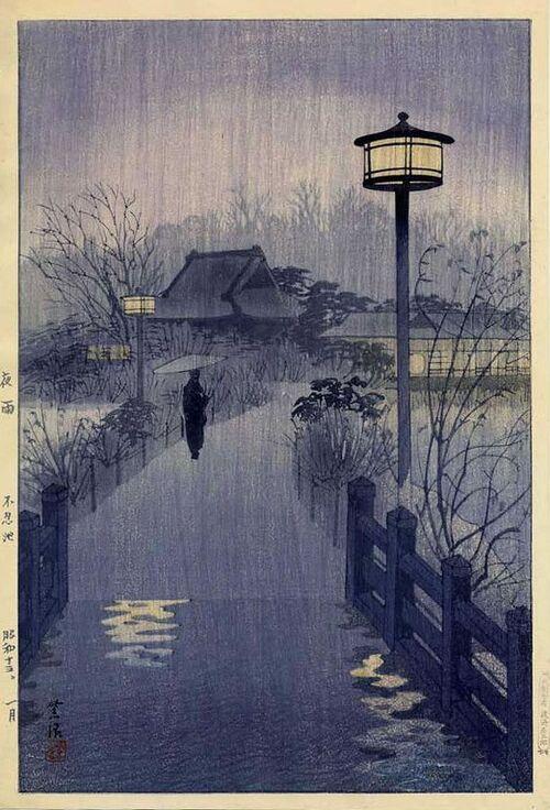 Nuit de pluie à Shinobazu de sHIRO kASAMATSU