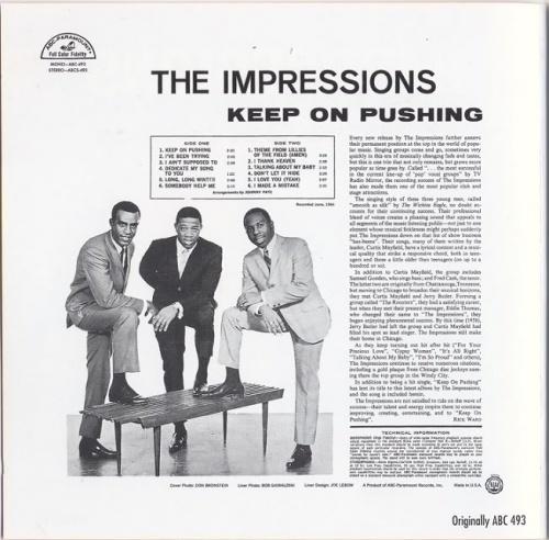 """1964 : Album """" Keep On Pushing """" ABC Paramount Records ABCS 493 [ US ]"""