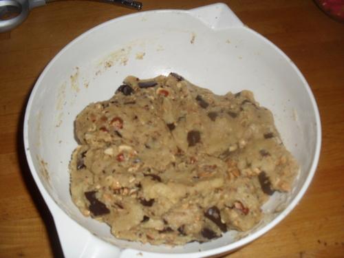 Des cookies chocolat noisette a tomber par terre