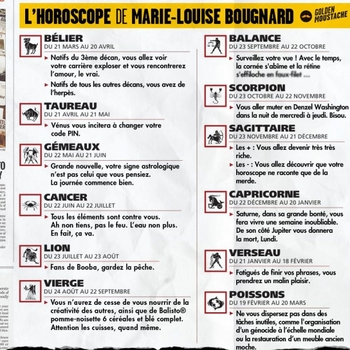 l horoscope de marie louise bougnard