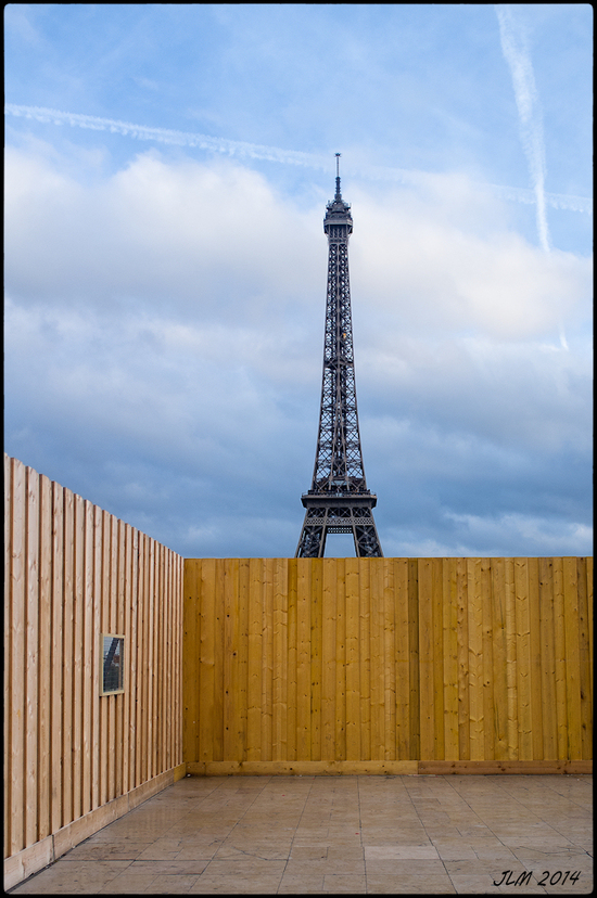 No Eiffel Tower today.