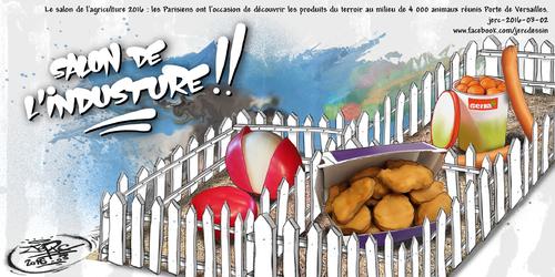 JERC 2016-03-02, caricature animaux parisiens, les Parisiens n'allant pas à la campagne, la campagne monte à Paris  !!! www.facebook.com/jercdessin Cliquer sur la photo pour voir en plus grand