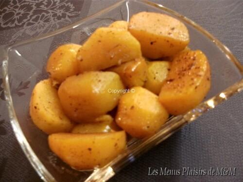 Navets boules d'or confits aux 4 épices et miel d'oranger