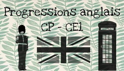 Progressions CP/CE1 - Anglais