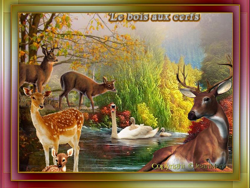 "Défi N° 95 "" Bois aux cerfs(copie interdite)"