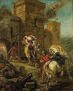 1002185-Eugène Delacroix Rebecca enlevée par le Templier